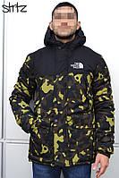 Мужская зимняя парка The North Face (Camo/Black), зимняя мужская черная парка