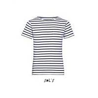 Дитяча футболка з круглим коміром в смужку SOL'S, фото 1