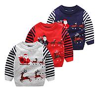 В'язаний дитячий светр / пуловер для мальчиков; вязаный Повседневный свитер; детские топы с длинными рукавами