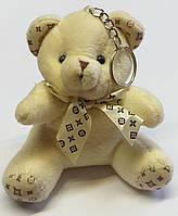 Брелок мягкая игрушка Мишка Тедди белый 10х6 см.