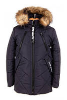 Зимняя куртка парка для мальчиков и подростков «Ник» удлиненная