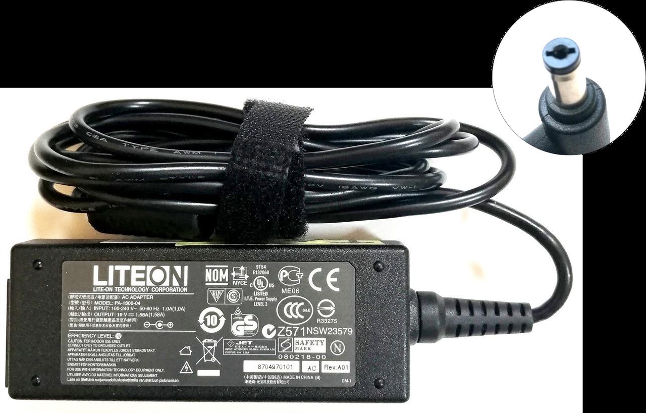 Блок питания LiteOn 30W 19V 1.58A 080218-00 (PA-1300-04) для ноутбуков Acer 5.5x1.7мм Б/У