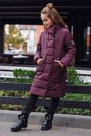 Зимнее пальто Кариночка 134-152 рост бордо