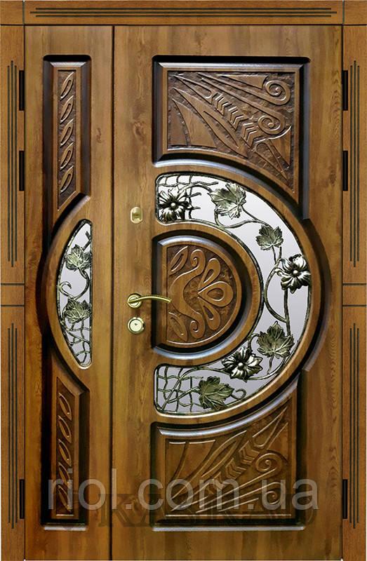 Двери входные Адамант New со стеклом полуторные серии Эталон ТМ Каскад
