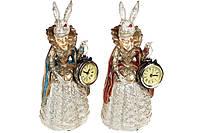 Декоративная фигура с часами Дама- крольчиха 24.5см, 2 вида