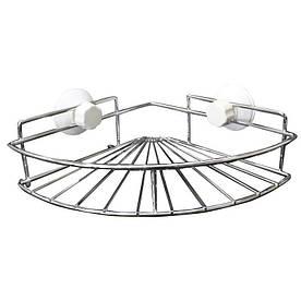 Угловая полочка в ванную на присоске - R132836