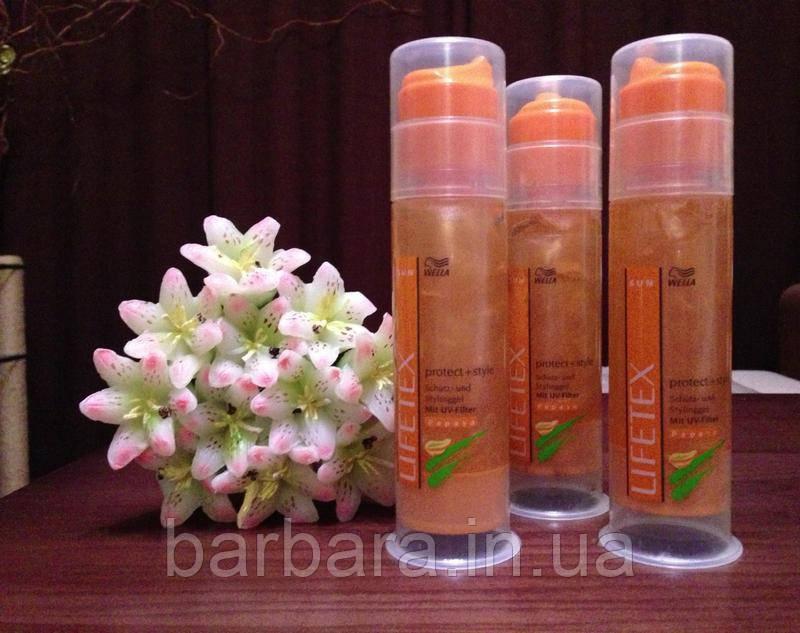 Средство для укладки волос с блеском,защита uv фильтр Wella lifetex  100 сл