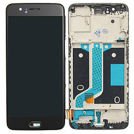 Дисплей для OnePlus Five | A5000 (1+5) с сенсорным стеклом в рамке (Черный) TFT