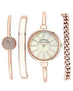 Часы в подарочной упаковке watch set AK gold white Anne Klein - 131708