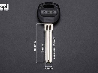 BAODEAN полукруглый 7.5 мм с пластиковой ручкой (латунь) заготовки ключей