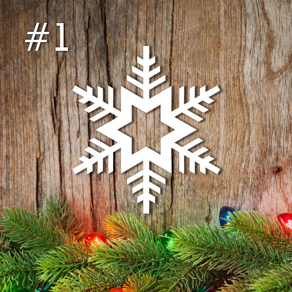 Снежинка из пенопласта №1 15см*2,5см