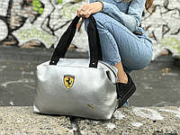 Женская  спортивная сумка Puma Ferrari, серебряная