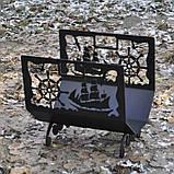 Металева дровниця Морська, фото 2