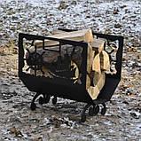 Металева дровниця Морська, фото 4
