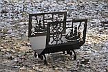 Металева дровниця Морська, фото 6