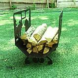Металлическая дровница Лесная, фото 3