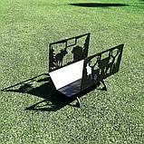 Металлическая дровница Лесная, фото 6