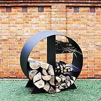 Металлическая круглая дровница 900, фото 1