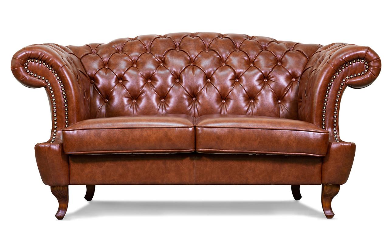 """Кожаный двухместный диван """"Chester Glost"""""""