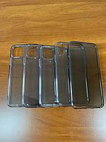 Чехол Silicone силиконовый прозрачный с затемнением для iPhone 5/SE/6/6s/7/7+/8/8+/X/Xr/Xs/Xs