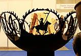 Очаг-полусфера Тризуб с казаком, фото 2