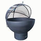 Очаг-полусфера с зольником и крышкой, фото 2