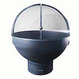 Очаг-полусфера с зольником и крышкой, фото 3