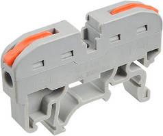 Многоразова клема PCT-211 на DIN-рейку з  ричагами на 2 контакти (пак.-40шт)