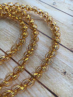 Распродажа! 1 см диаметр Колосок дождик для декора Золото, Длина 150 см