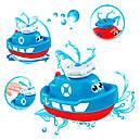 Игрушка для ванной Кораблик с фонтанчиком, фото 2