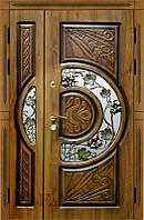 Двери входные Адамант New полуторные со стеклом серии Комфорт ТМ Каскад