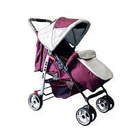 Прогулянкова коляска-книжка Trans Baby Baby Car бордовый+сталь