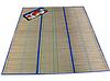 Пляжный коврик фольга с соломкой 108х163, коврик для пляжа