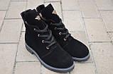 Ботинки подростковые для девочки замша черный зимние и демисезонные от производителя KARMEN 133129, фото 2