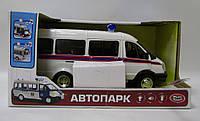 """Автобус PLAY SMART 9689-D """"Автопарк"""" МЧС инерц.муз.свет.кор.21,5*10,5*11,4 ш.к./36/"""