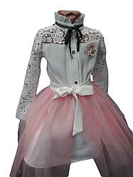 Детское платье со съёмной фатиновой юбкой