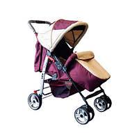 Прогулянкова коляска-книжка Trans Baby Baby Car бордовый+беж