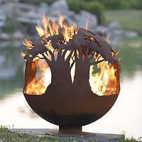 Очаг-шар Деревья в огне 500