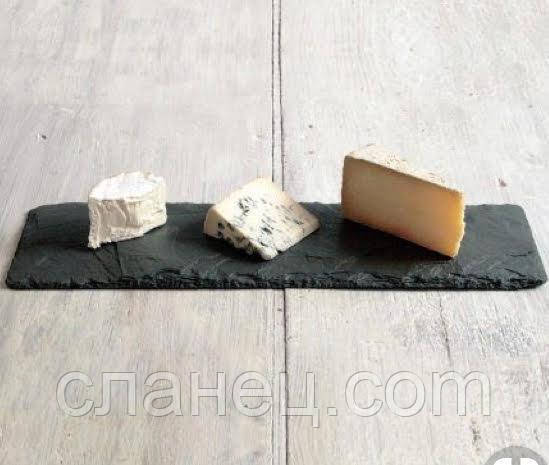 Блюдо для подачи 2 шт. 32,5 х 17,5 см; прямоугольное, натур. сланец