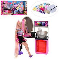 Кукла-манекен, салон красоты 68037, душ (льется вода), аксессуары, краска для волос