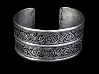 Браслет широкий восточный тибетское серебро