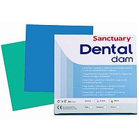 Коффердам зеленый латексный Dental Dam, с ароматом мяты  , 36шт. 152X152 см