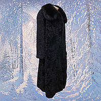 Каракулевая длинная шуба женская  р.52-54  б/у