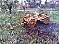 Декоративная тележка из дерева для сада, фото 1