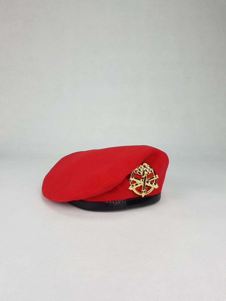 Бере зшитий червоний ВСП, артилерійський