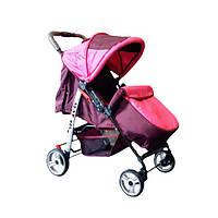 Прогулянкова коляска-книжка Trans Baby Baby Car бордовый+ярко.розовый