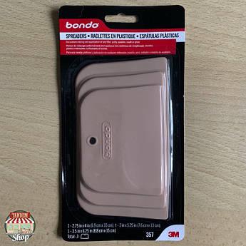 Шпателі пластикові 3M Bondo, 3 шт Комплект