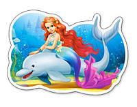 """Пазлы """"Русалка на дельфине"""", 15 элементов В-015160 sco"""