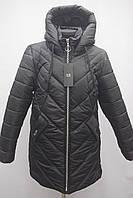 Хіт!!! Дуже гарна зимова жіноча куртка дуже тепла Норма Батал 48р, 50р, 52р, 54р, 56р чорна, фото 1