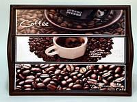 """Поднос на подушке, с ручками """" Coffee """" 6021-12"""